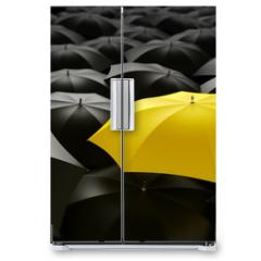 Naklejka na lodówkę - yellow umbrella
