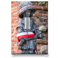 "Naklejka na lodówkę - ""Little Insurgent"" statue in Warsaw, Poland"