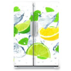 Naklejka na lodówkę - citrus and ice