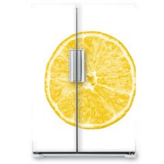 Naklejka na lodówkę - Collection of citrus slices -  lemon, lime and grapefruit