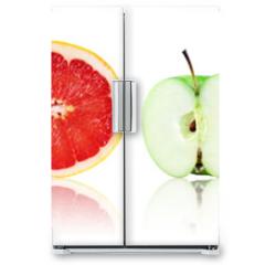 Naklejka na lodówkę - Collection of fresh fruit and vegetable slices