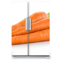 Naklejka na lodówkę - Carrot. Heap of vegetable isolated on white