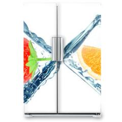 Naklejka na lodówkę - frozen fruit