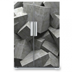 Naklejka na lodówkę - cubes wall