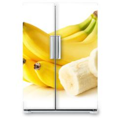 Naklejka na lodówkę - bananas isolated on the white background