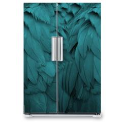 Naklejka na lodówkę - Aqua Feathers