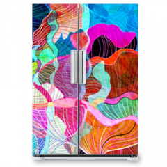 Naklejka na lodówkę - abstract watercolor background
