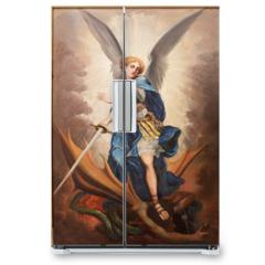 Naklejka na lodówkę - Tel Aviv - paint of archangel Michael from st. Peters church