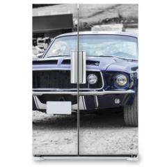 Naklejka na lodówkę - Vehículo clásico americano