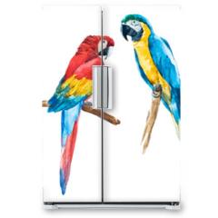Naklejka na lodówkę - Watercolor parrot