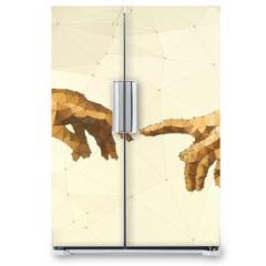 Naklejka na lodówkę - Abstract God's hand vector illustration