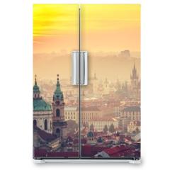 Naklejka na lodówkę - Prague at the sunrise