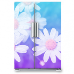 Naklejka na lodówkę - Flower pastel style.