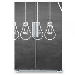 Naklejka na lodówkę - Lampen / Idee / Konzept