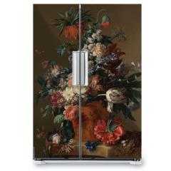 Naklejka na lodówkę - Vase of flowers - Jan van Huysum