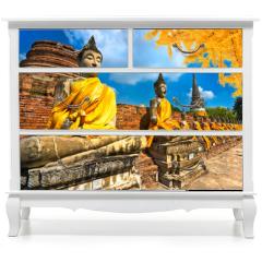 Naklejka na meble - Buddha Statues in Ayutthaya, Thailand,