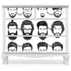 Naklejka na meble - bearded man hairstyles
