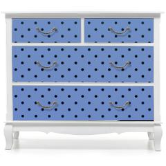 Naklejka na meble - wallpaper pattern black dots in pantone blue serenity color background