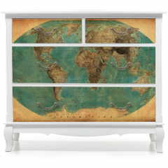 Naklejka na meble - vintage map
