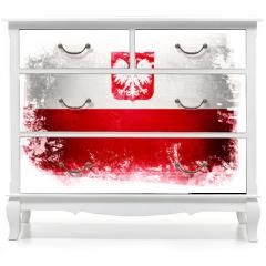Naklejka na meble - Flaga Polski