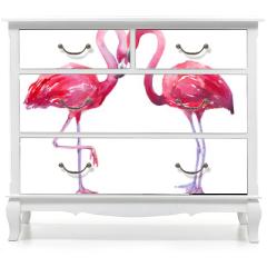 Naklejka na meble - watercolor illustration of a flamingo