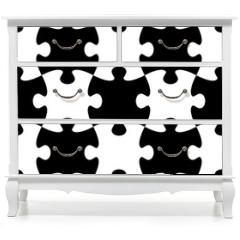 Naklejka na meble - Jigsaw puzzle seamless pattern