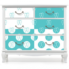 Naklejka na meble - Tooth patterns set. Vector Illustration