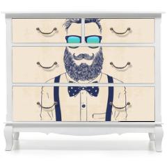 Naklejka na meble - gentleman hipster
