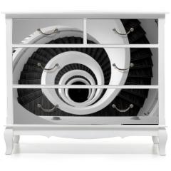 Naklejka na meble - Modern spiral stairs detail