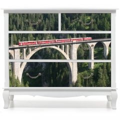 Naklejka na meble - Rhätische Bahn - Wiesener Viadukt