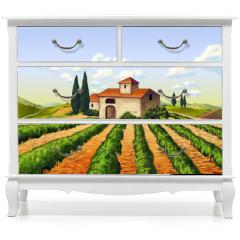 Naklejka na meble - Italian vineyard