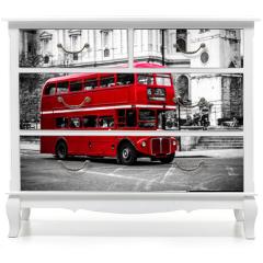 Naklejka na meble - London's iconic double decker bus.