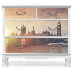Naklejka na meble - London Big Ben Sunset