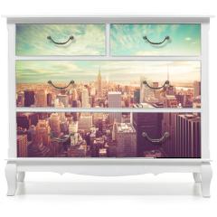 Naklejka na meble - Vintage tone view of New York City skyline view across Manhattan