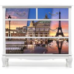 Naklejka na meble - Ville de Paris France