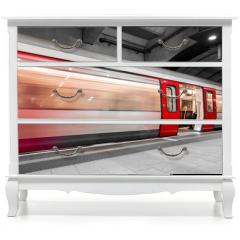 Naklejka na meble - London tube moving