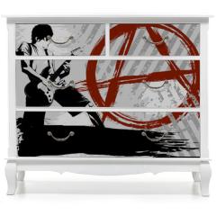 Naklejka na meble - Punk background