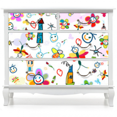 Naklejka na meble - background for kids