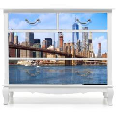 Naklejka na meble - New York city Lower Manhattan skyline