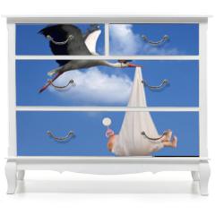 Naklejka na meble - Stork & Baby