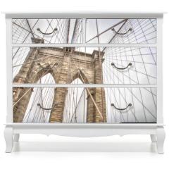 Naklejka na meble - New York, view of the Brooklyn Bridge
