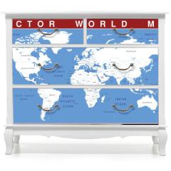 Naklejka na meble - VECTOR WORLD MAP
