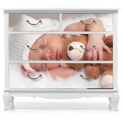 Naklejka na meble - sleeping newborn