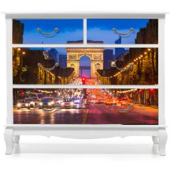 Naklejka na meble - Champs Elysees and Arc de Triomphe, Paris