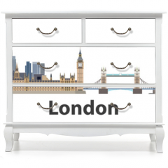 Naklejka na meble - London vector city skyline