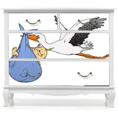 Naklejka na meble - Baby, Klapperstorch, Geburt, Schwanger, Schwangerschaft