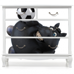 Naklejka na meble - Fun horse - 3D Illustration