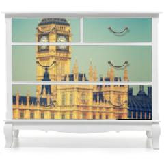 Naklejka na meble - Big Ben and houses of parliament in London, UK