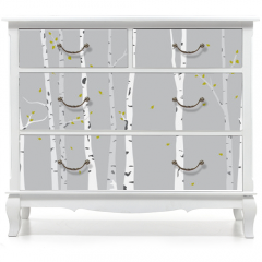 Naklejka na meble - Birch Tree Silhouette Background