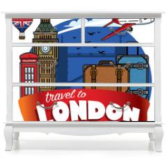 Naklejka na meble - traveling to city of london